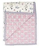Set tappeto per gattonare bambini + cestino per giocattoli (coperta per bambini da 150 x 120 cm; ideale come copriletto, adatto come tappeto da giochi) (lilla)