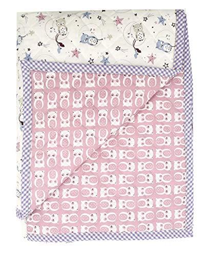 Pack Alfombra para Gatear Infantil + Cesto para Juguetes (Manta para bebé de 150 x 120 cm; Ideal como Colcha Apta como Alfombra de Juegos) (Lila)