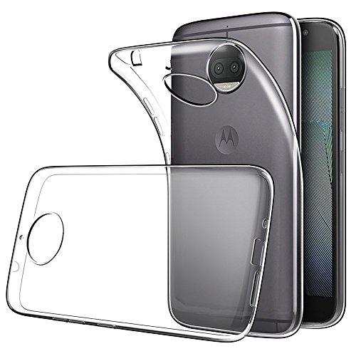 REY Funda Carcasa Gel Transparente para Motorola Moto G5S Plus / G5 S Plus, Ultra Fina 0,33mm, Silicona TPU de Alta Resistencia y Flexibilidad