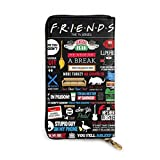 Qbeir Friends Tv Show Leather Zipper Wallet Clutch, Can Accommodate Credit Cards, Cash, Documents, Etc. DIY Custom Wallet, Fashion Credit Card Case