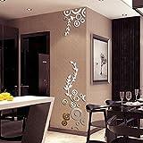 JiaMeng Pegatina de Pared, Elegante Hoja desprendible 3D Love Etiqueta de la Pared calcomanías de Vinilo de Arte decoración del Dormitorio (Multicolor 4, tamaño Libre)