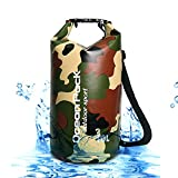 SubClap Floating Waterproof Dry Bag 10L - Roll Top Storage Bag Compression Shoulder Bags Floating Dry Sack for Rafting, Swimming, Boating, Kayaking, Fishing, Beach, Hiking & Camping