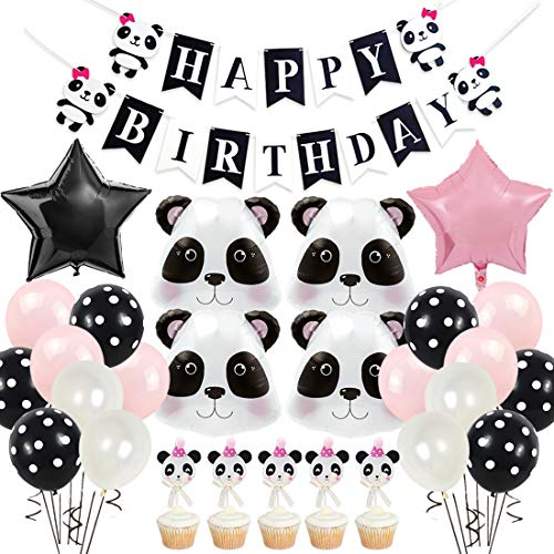 Panda Birthday Party Supplies for Girls