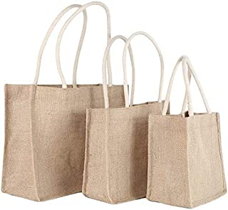 BBGSFDC 3 tamaños Bolso de Hombro Lino Casual Bolsas de Compras Eco Messenger Bag Totes Top-Handle (Size : Large)