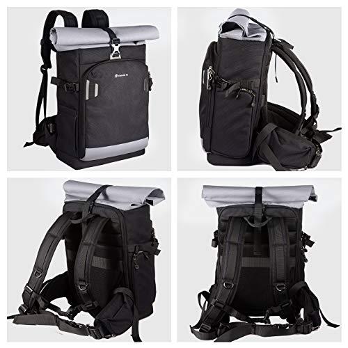 TARION Pro XP Camera Backpack Waterproof Camera Ba   g Hard Shell Roll Top Expandable Large Camera Backpack 19L | 15