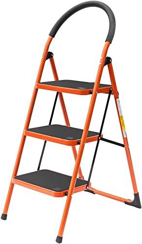 lowest LUISLADDERS new arrival 3 Step Ladder Folding Step 2021 Stool Portable Home and Kitchen Sturdy Stepladder (3 Step) online