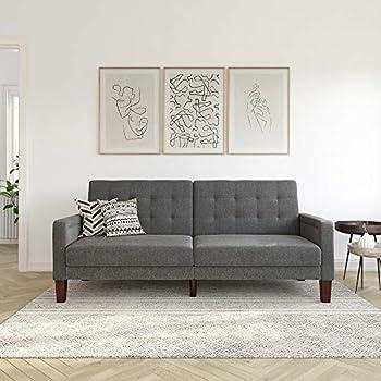 Better Homes & Gardens Porter Fabric Tufted Firm Futon