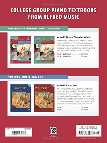 Alfred's Group Piano for Adults -- Popular Music, Bk 1: Solo Repertoire and Lead Sheets from Movies, TV, Radio, and Stage