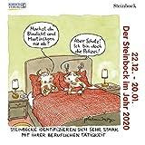 Steinbock Mini 2020: Sternzeichenkalender-Cartoon - Minikalender im praktischen quadratischen Format 10 x 10 cm.
