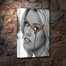 Seasons Jenny McCARTHY - Canvas Clock (A4 - Signed by The Artist) #js002