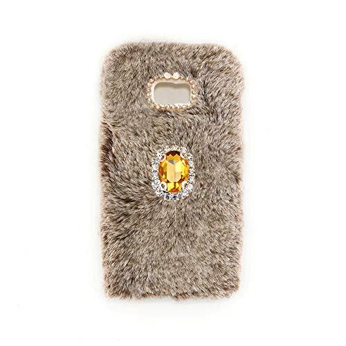 YHY Marrón Noble Elegante Caja del Teléfono Móvil Diamantes imitación TPU Funda Silicona para Samsung Galaxy J5 Prime Phone Case