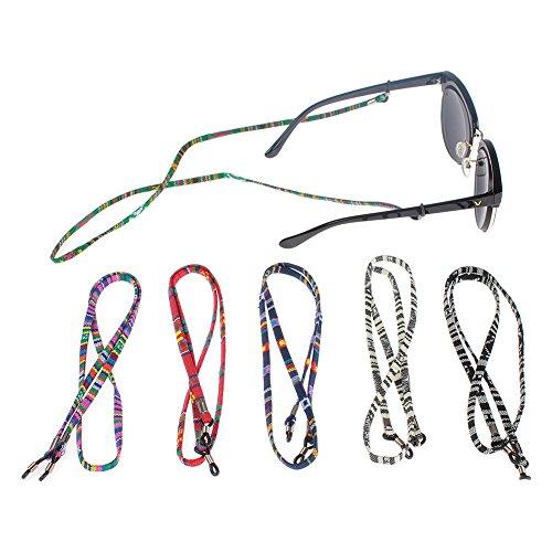 Soleebee Soleebee 6 Stück Universal Multicolor geflochtenes Seil Brillen Halter kette Brillenband/Brillenkette/Brillen Cord/Sonnenbrille kette Hals Lanyard/Brillenhalter Hals Cord Strap