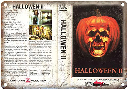 Vintage Retro Aluminum Sign 1981 - Halloween Ii Movie VHS Cover Vintage Look 10 X 14 Inches
