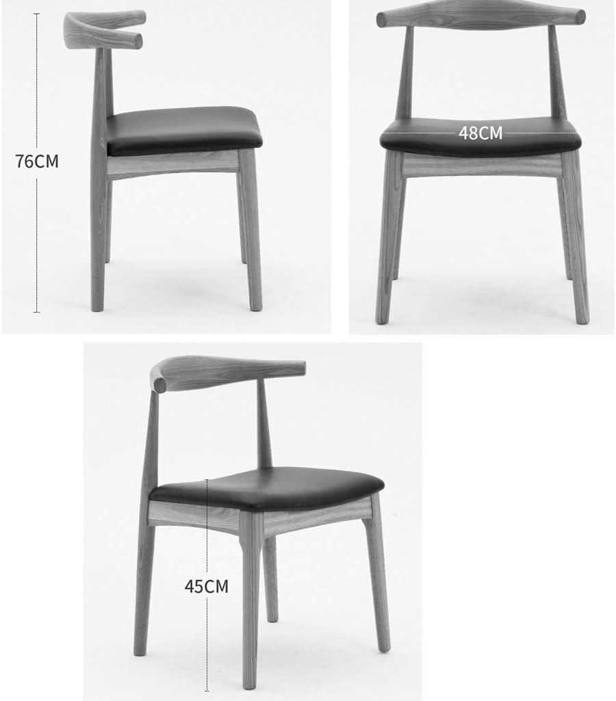 HXF- Chaise de salle à manger, chaise de bureau simple, dossier créatif, chaise de loisirs, chaise de salle à manger pour adulte durable (couleur : jaune-A) Bleu - B
