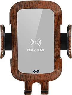 木目調車載Qi ワイヤレス充電器 車載 ホルダー10W/7.5W急速ワイヤレス充電器車載スマホホルダー 360度回転 粘着式&吹き出し口2種類取り付 iPhone X/XR/XS/XSMAX/8/8 Plus/Galaxy S9/S8/S8 Plus/S7/S7 Edge/S6/S6 Edge/Note 8/Note 5/Nexus 5/6等に適用ワイヤレス充電機種に対応 (木目2)
