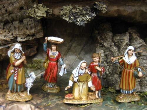 Julias Boutique Set of 4 Nativity Scene Shepherd Figurines - Presepio Figuras para Pesebres