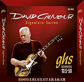 [English]David Gilmour's connection with GHS' Boomer series goes back to 1979, when he started using them on Pink Floyd's 'The Wall' project. Accesorio David Gilmour Guitarra Electrica