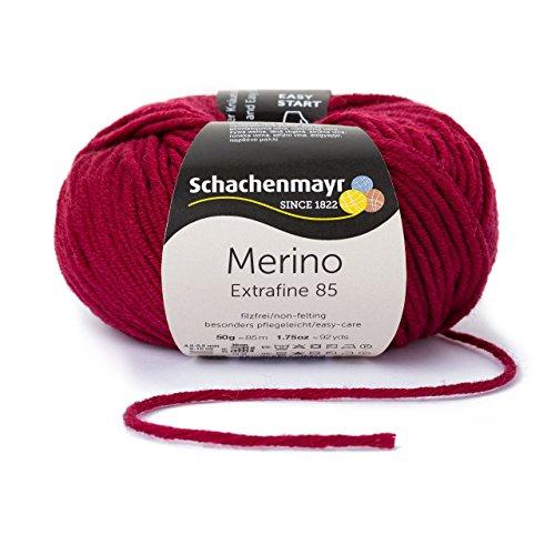 Schachenmayr Merino Extrafine 85 9807554-00232 weinrot Handstrickgarn, Schurwolle