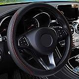 Leder Lenkradbezug Auto-Styling, passend für Opel Opel Agila Corsa C Combo Meriva Tigra, schwarz rot