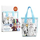Disney Frozen 2 Kit Colori Completo per Bambini con Borsa da Colorare e 6 Pennarelli, Borsetta Bimba Motivo Elsa ed Anna Regno di Ghiaccio Frozen, Lavoretti Creativi per Bambini, Regali Bambine