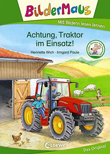 Bildermaus - Achtung, Traktor im Einsatz!: Mit Bildern lesen lernen - Ideal für die Vorschule und Leseanfänger ab 5 Jahre