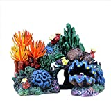 HXHON Coral de resina, decoración de acuario de coral artificial, arrecife, pecera, acuario, adornos acuáticos, peces escondidos, montañas, retro, artesanías, paisajismo