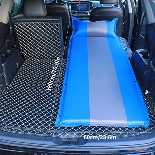 LTE Auto Automatic Inflatable Air Mattress SUV Special Air Mattress Car Bed Adult Sleeping Mattress Car Travel Bed,Single-blue