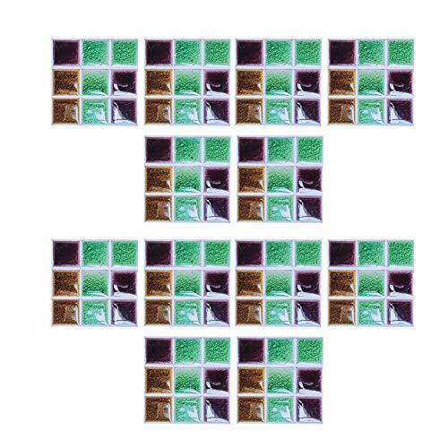 Pelnotac Juego de 2 azulejos de pared impermeables, diseño de rejilla de vinilo de PVC, fácil de quitar para el hogar, baño, cocina