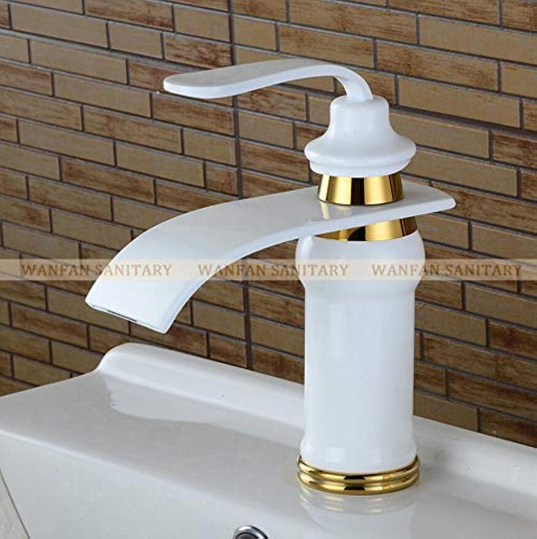 Wasserhahn Waschtischarmatur Becken Wasserhahn Massivem Messing l Eingerieben Bronze Wasserfall Waschbecken Wasserhahn Groen Platz Auslauf Mischbatterie