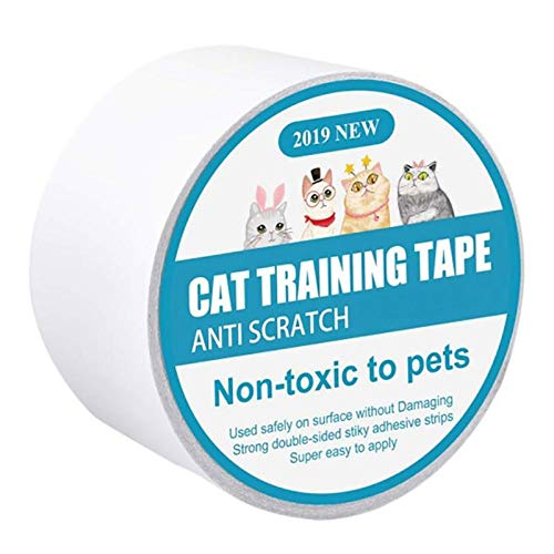 TIPOACIANNI8 1Roll Cat Anti Scratch Training Tape Cat Furniture Protector Cat Sticky Paws Tape Cats Scratching Sticky Tape Double Sided Training Tape