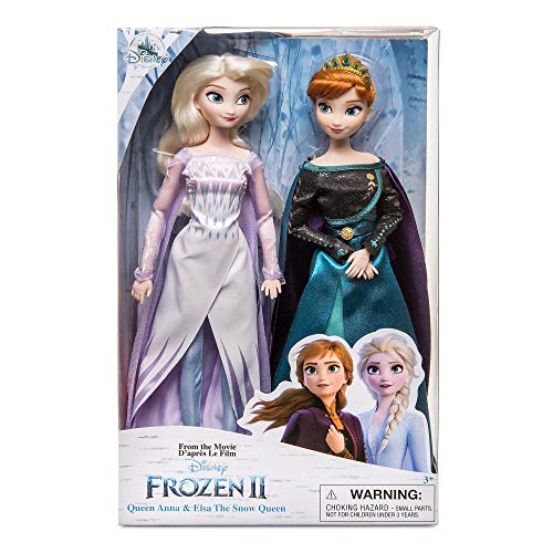 Frozen 2 Disney Queen Anna & Snow Queen Elsa Doll Set of 2 Classic Dolls 30cm