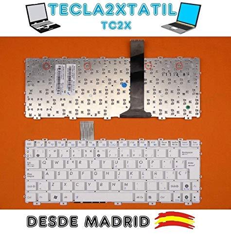 Teclado para PORTATIL ASUS EEE PC 1011CX EEE PC 1011CX-BLK015W Nuevo EN ESPAÑOL SIN Marco Blanco