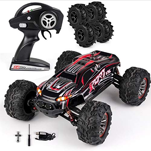 Ycco RC Cars, 1:18 Escala Wireless Off-Road Truck 2.4GHz Toys Remote Control Toys Radio Controlado Monster Rock Rock Crawler Chariot con 4 neumáticos de repuesto Regalo para niños adultos
