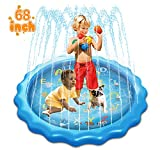 """SANXI Sprinkler & Splash Pad for Kids, 68"""" Splash Play Mat Water Toy"""