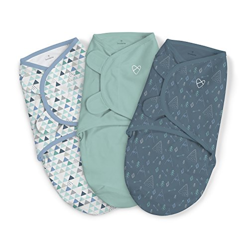 SwaddleMe Original Swaddle 3-PK, Mountaineer, Large (3-6 Months)