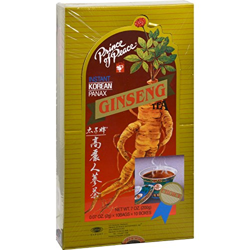 PRINCE OF PEACE - Instant Korean Panax Ginseng Tea - 100 Tea Packets