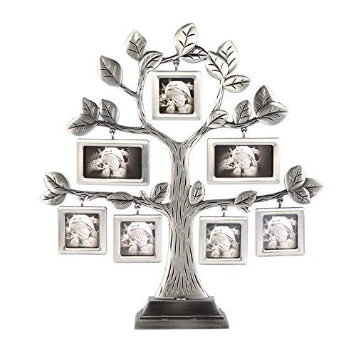 Pantalla de fotogramas de collage de árboles genealógicos con 7 marcos para colgar fotos