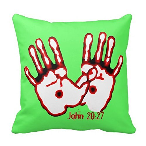 Egoa Pillowslip Loving Hands John 20 27 Re 45X45Cm Special Soft Zipped Throw Pillowcase Pillow Cover Double-Sided Printing Couch Cushions Cushion Case