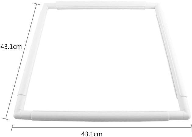 DIY f/ür N/äharbeiten 1# Stickrahmen quadratisch Ecosway Kreuzstich-Rahmen aus Kunststoff in Wei/ß