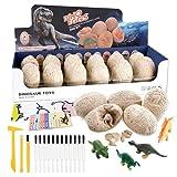 URBZUE Huevos de Dinosaurio Excavación para Niños, Paquete de 12, Descubre 12 Dinosaurios...