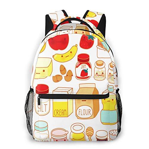 Laptop Rucksack Schulrucksack Schöne Kuchen Zutat, 14 Zoll Reise Daypack Wasserdicht für Arbeit Business Schule Männer Frauen