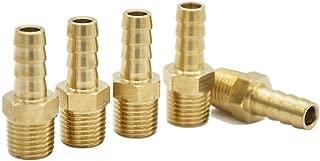 5 piecesBrass Hose Fitting, Adapter, 5/16 Barb x1/4