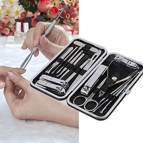 Ensemble de pédicure de manucure de 19 pièces, kit de toilettage de soins des ongles personnels