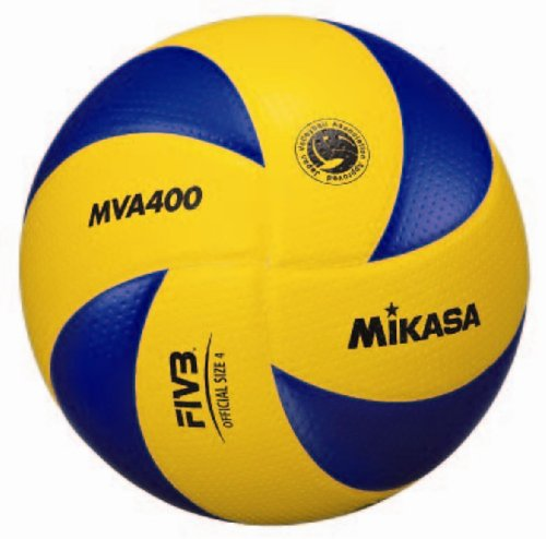 Mikasa MVA400 Volleyball Certification Ball, No. 4, Middle School / Home Women's