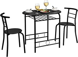 VINGLI 3 Piece Dining Set Small Dining Table and 2 Chairs...