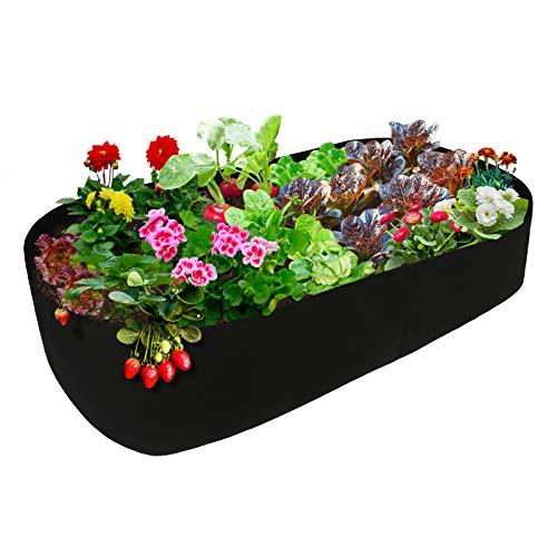 YHNJI Hochbeet, robuster Pflanzsack, rechteckiger Stoff, Hochbeet, Belüftung, Pflanzgefäß, für Outdoor-Pflanzen, Gemüse, Blumen, 19 x 40 x 90 cm