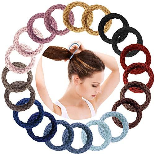 120 Piezas del Banda goma del pelo, Lazo de Pelo Elástico, Cintas de goma del pelo duradero para Pelo Grueso Pesado y Rizado, Multicolor, de Tela