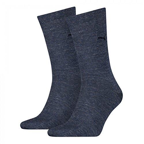 PUMA Herren Casual Socken Classic 4er Pack, Größe:43-46;Farbe:denim blue (460)