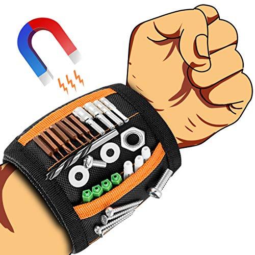 OVAREO Magnetisches Armband, Armband Magnetisch Werkzeug Geschenke für Männer, Werkzeug Magnetarmband Handwerker, Vatertagsgeschenk Männer Kleine Geschenke Weihnachten für Männer, Papa, Ehemann