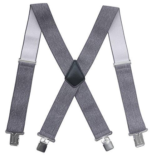 Bretelles Homme Larges 4 clips Brace Men Y Retour Suspensions ajustables élastiques et durables...